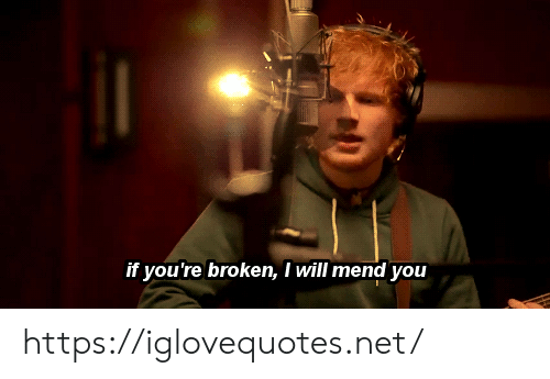 Net, Will, and You: if you're broken, I will mend you https://iglovequotes.net/