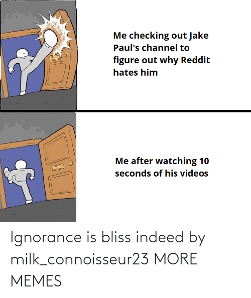 Ignorance: Ignorance is bliss indeed by milk_connoisseur23 MORE MEMES