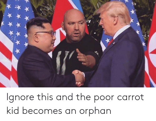 Ignore This: Ignore this and the poor carrot kid becomes an orphan