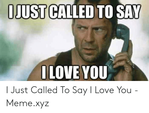 Love, Meme, and I Love You: IJUST CALLED TO SAY  I LOVE YOU I Just Called To Say I Love You - Meme.xyz