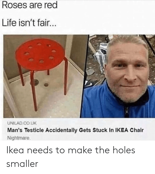 Needs: Ikea needs to make the holes smaller