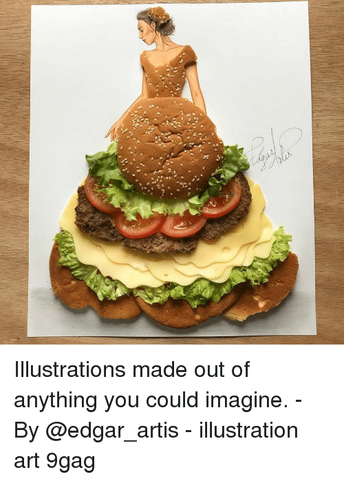 9gag, Memes, and 🤖: Illustrations made out of anything you could imagine. - By @edgar_artis - illustration art 9gag