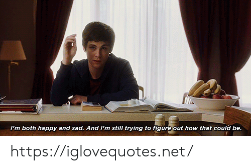 figure out: I'm both happy and sad. And I'm still trying to figure out how that could be. https://iglovequotes.net/