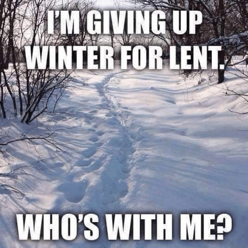 Dank, Winter, and 🤖: IM GIVING UP  WINTER FOR LENT  WHO'S WITH ME?