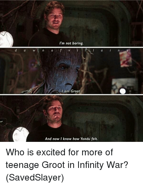 i just found out something about groot in infinity war - 500×649