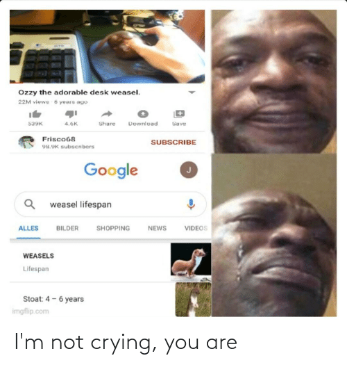 Im Not Crying: I'm not crying, you are
