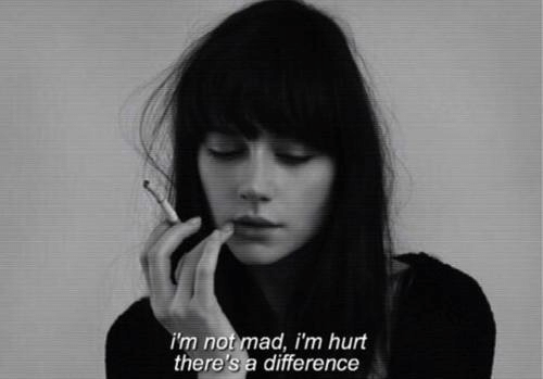 Mad, Im Not Mad, and  Hurt: i'm not mad, i'm hurt  there's a difference
