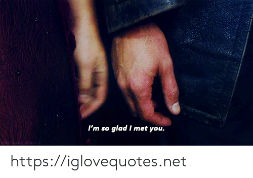Net, You, and Glad: I'm so glad I met you. https://iglovequotes.net