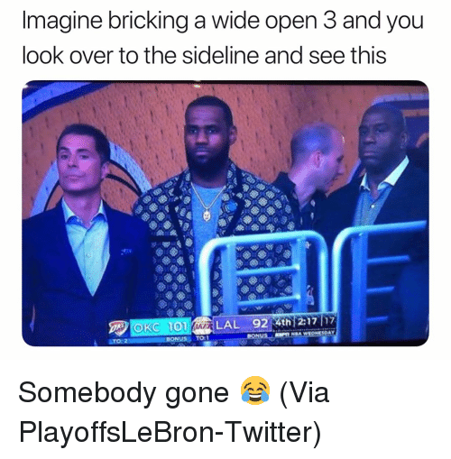 Basketball, Nba, and Sports: Imagine bricking a wide open 3 and you  look over to the sideline and see this  TO:1 Somebody gone 😂 (Via ‪PlayoffsLeBron‬-Twitter)
