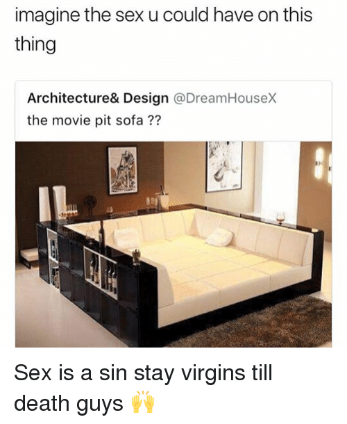 Funny, Sex, and Death: imagine the sex u could have on this  thing  Architecture& Design @DreamHouseX  the movie pit sofa?? Sex is a sin stay virgins till death guys 🙌