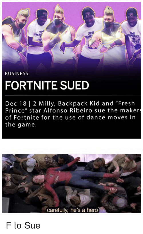 """Alfonso Ribeiro, Fresh, and Prince: IMI  BUSINESS  FORTNITE SUED  Dec 18 