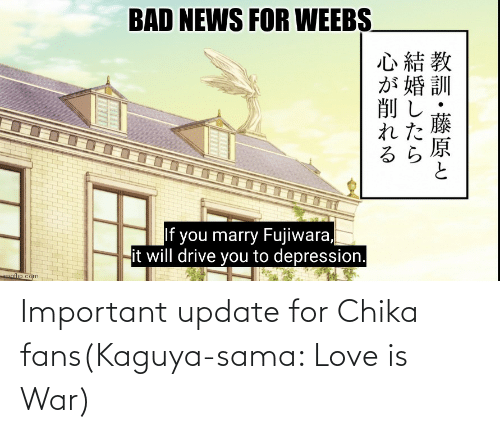 Love Is: Important update for Chika fans(Kaguya-sama: Love is War)