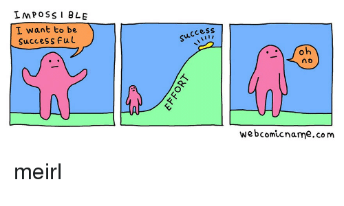 Success, MeIRL, and Com: IMPOSSI BLE  I want to be  SucceSS Ful  success  n d  At  webcomicname.com meirl
