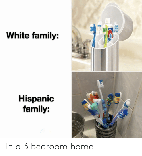 In A: In a 3 bedroom home.