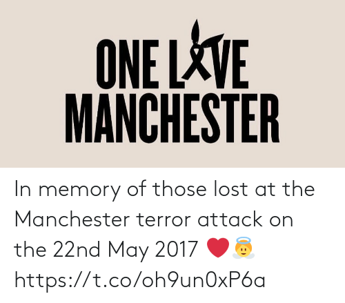 may: In memory of those lost at the Manchester terror attack on the 22nd May 2017 ❤️👼 https://t.co/oh9un0xP6a