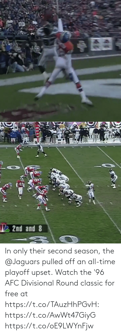 classic: In only their second season, the @Jaguars pulled off an all-time playoff upset.  Watch the '96 AFC Divisional Round classic for free at https://t.co/TAuzHhPGvH: https://t.co/AwWt47GiyG https://t.co/oE9LWYnFjw