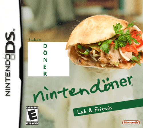 Rated: Includes:  D  nintendöner  TM  EVERYONE  Lab & Friends  CONTENT RATED BY  Nintendo  NINTENDODS.  A:0 Z wR
