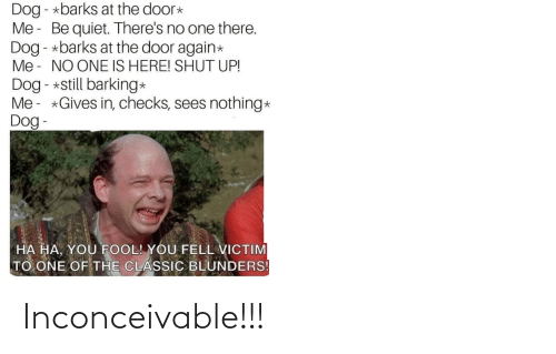 inconceivable: Inconceivable!!!