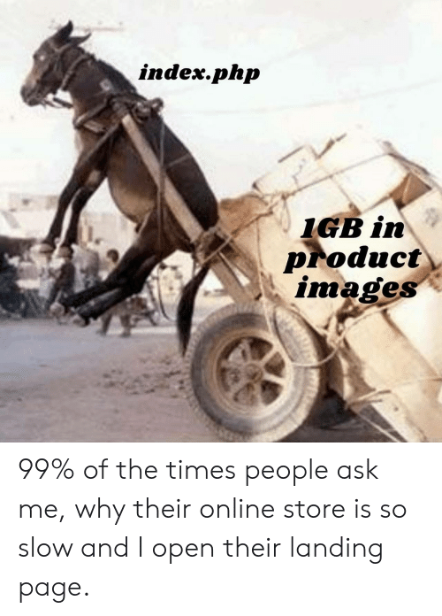 Images, Page, and Php: index.php  IGB in  Product  images 99% of the times people ask me, why their online store is so slow and I open their landing page.