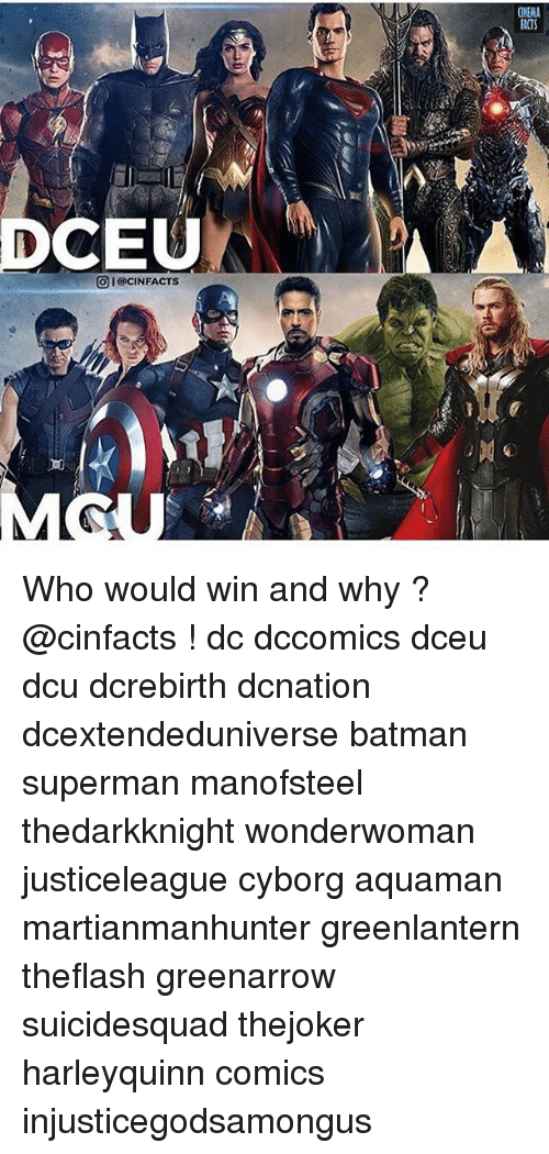 Supermane: INENA  ACTS  DCEU  OI@CINFACTS Who would win and why ? @cinfacts ! dc dccomics dceu dcu dcrebirth dcnation dcextendeduniverse batman superman manofsteel thedarkknight wonderwoman justiceleague cyborg aquaman martianmanhunter greenlantern theflash greenarrow suicidesquad thejoker harleyquinn comics injusticegodsamongus
