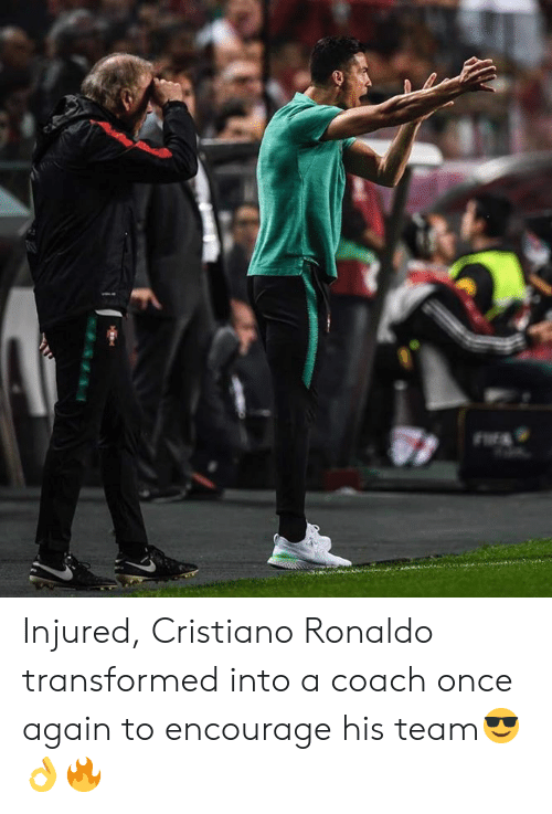 Cristiano Ronaldo: Injured, Cristiano Ronaldo transformed into a coach once again to encourage his team😎👌🔥