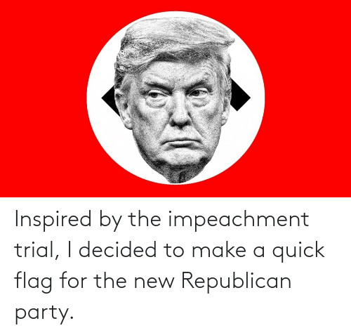 Republican Party: Inspired by the impeachment trial, I decided to make a quick flag for the new Republican party.