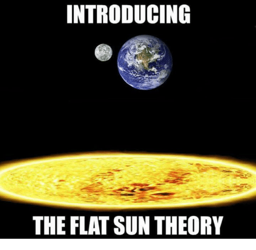 Sun, Flat, and The: INTRODUCING  THE FLAT SUN THEORY