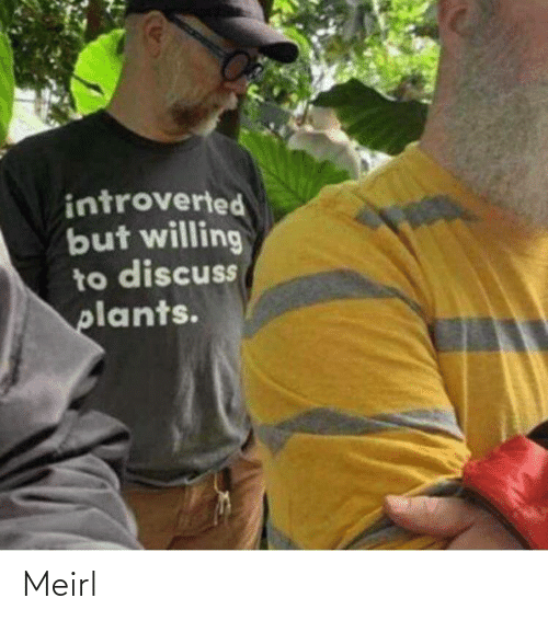 introverted: introverted  but willing  to discuss  plants. Meirl