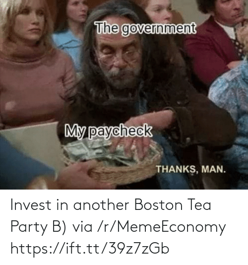 invest: Invest in another Boston Tea Party B) via /r/MemeEconomy https://ift.tt/39z7zGb