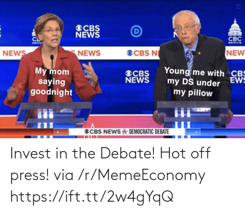 invest: Invest in the Debate! Hot off press! via /r/MemeEconomy https://ift.tt/2w4gYqQ
