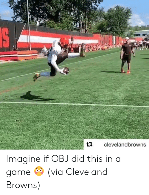 Cleveland Browns, Browns, and Cleveland: IS  clevelandbrowns Imagine if OBJ did this in a game 😳  (via Cleveland Browns)