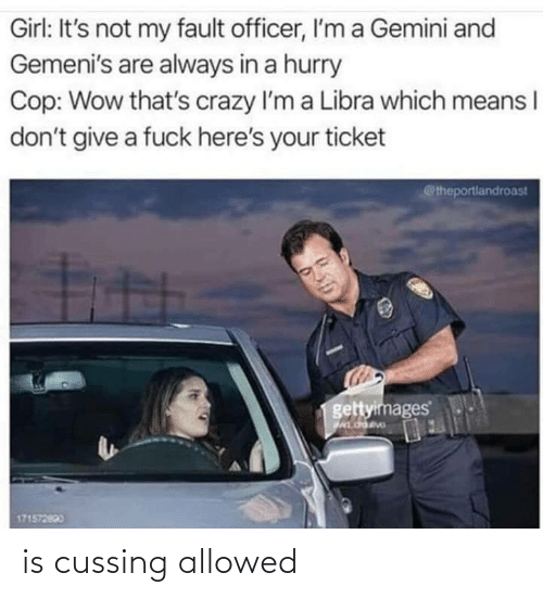 Allowed: is cussing allowed