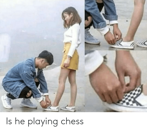 playing: Is he playing chess