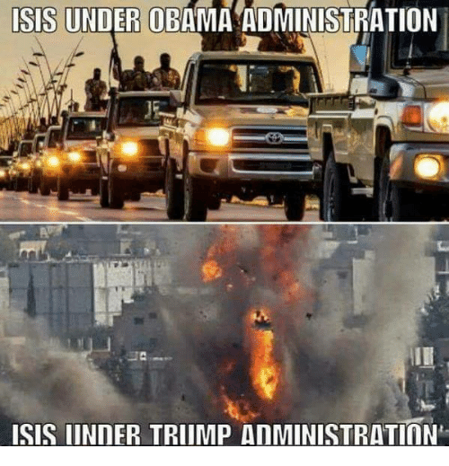 Isis, Memes, and Obama: ISIS UNDER OBAMA ADMINISTRATION  ISIS IINDER TRIIMP AnMINISTRATInN