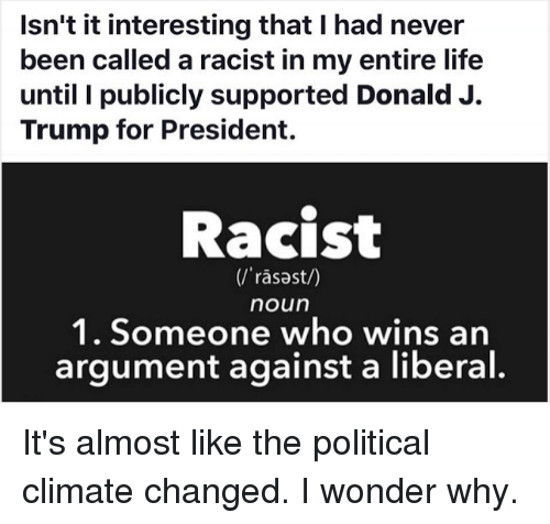 trump wasn't called racist until now - 960×707