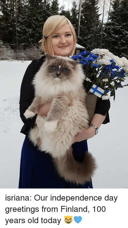 Anaconda, Independence Day, and Target: isriana:  Our independence day greetings from Finland, 100 years old today  😸💙