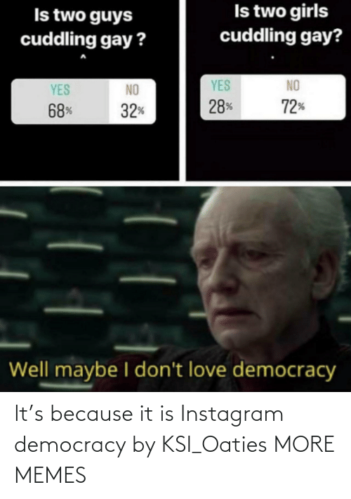 Democracy: It's because it is Instagram democracy by KSI_Oaties MORE MEMES