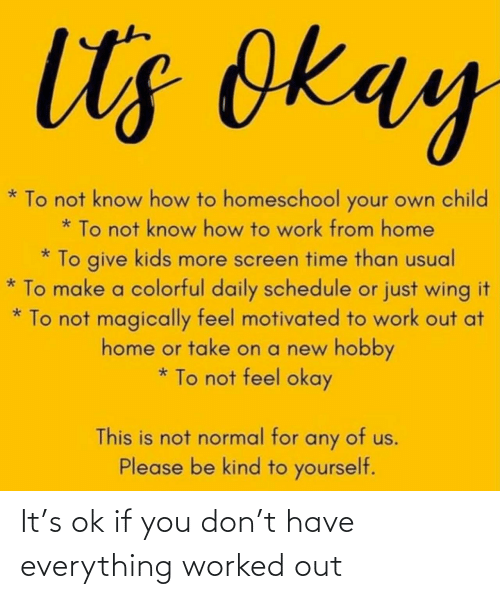 Worked: It's ok if you don't have everything worked out