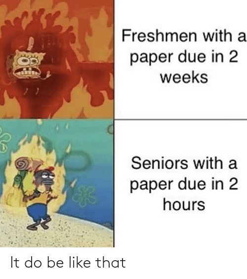 like that: It do be like that