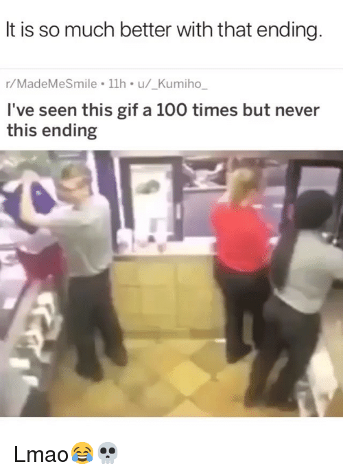Anaconda, Funny, and Gif: It is so much better with that ending  r/MadeMeSmile 1lh u/_Kumiho,  I've seen this gif a 100 times but never  this ending Lmao😂💀