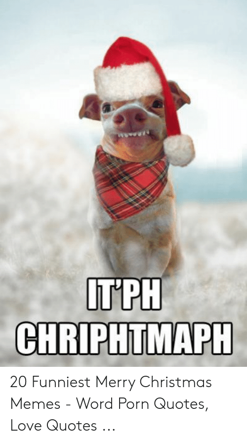 Christmas, Love, and Memes: IT PH  CHRIPHTMAPH 20 Funniest Merry Christmas Memes - Word Porn Quotes, Love Quotes ...