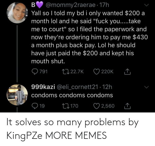 Many: It solves so many problems by KingPZe MORE MEMES