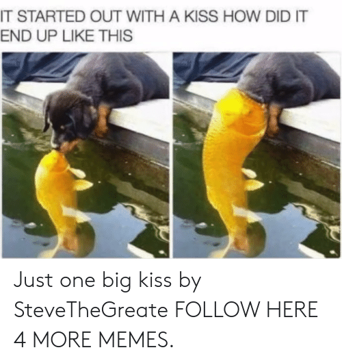 Dank, Memes, and Target: IT STARTED OUT WITH A KISS HOW DID IT  END UP LIKE THIS Just one big kiss by SteveTheGreate FOLLOW HERE 4 MORE MEMES.