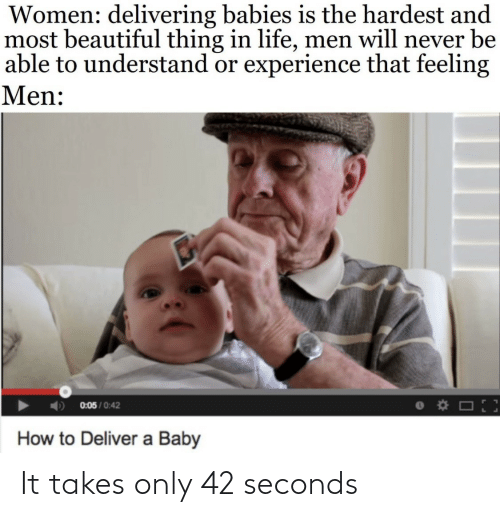 Only: It takes only 42 seconds