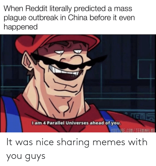 Nice: It was nice sharing memes with you guys