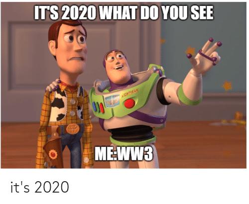 sher: ITS 2020 WHAT DO YOU SEE  SHer edHTYEAR  ME:WW3 it's 2020