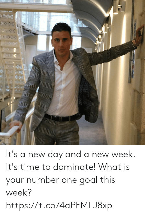 it's time: It's a new day and a new week. It's time to dominate! What is your number one goal this week? https://t.co/4aPEMLJ8xp