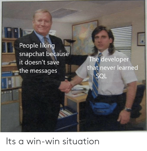 Situation: Its a win-win situation