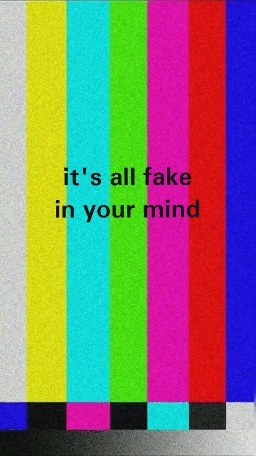 Fake, Mind, and All: it's all fake  in your mind