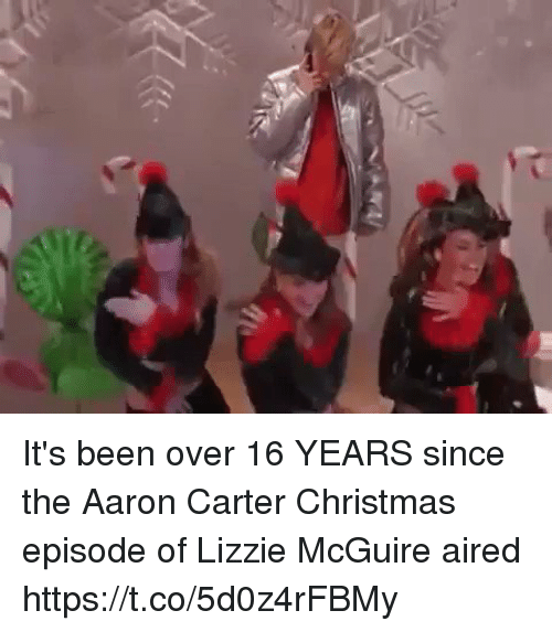 lizzie mcguire: It's been over 16 YEARS since the Aaron Carter Christmas episode of Lizzie McGuire aired https://t.co/5d0z4rFBMy